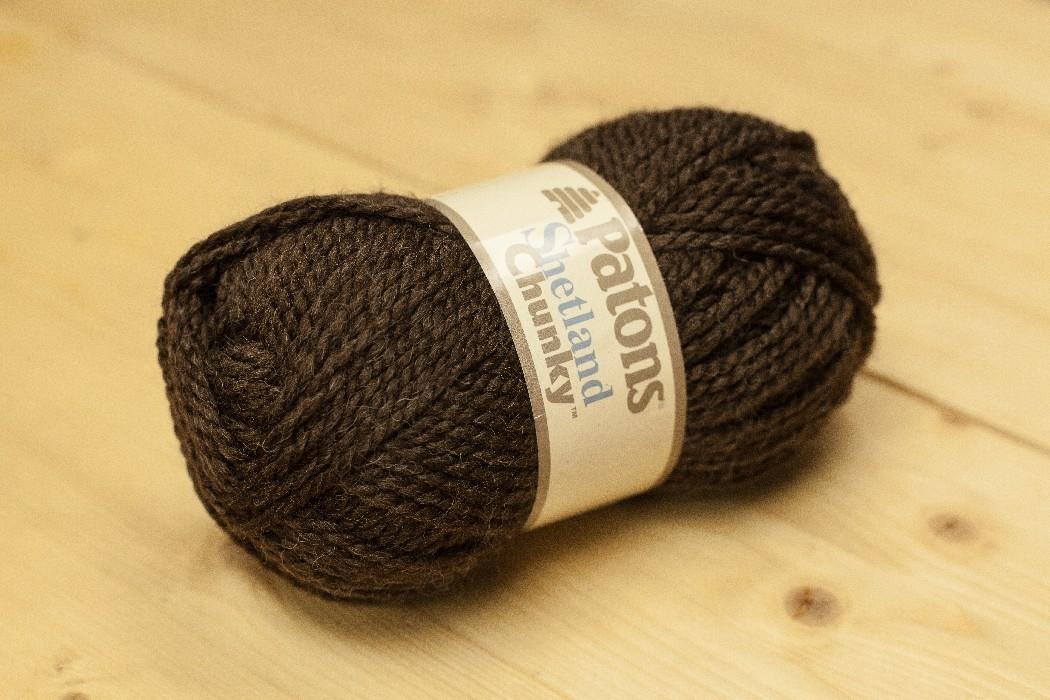 Shetland Chunky brun terre