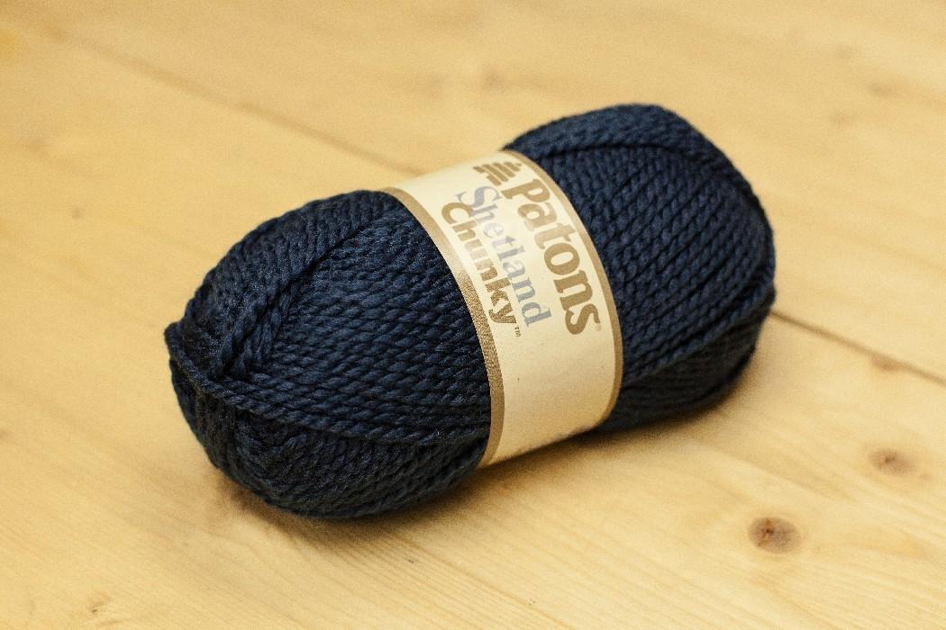Shetland Chunky bleu moyen