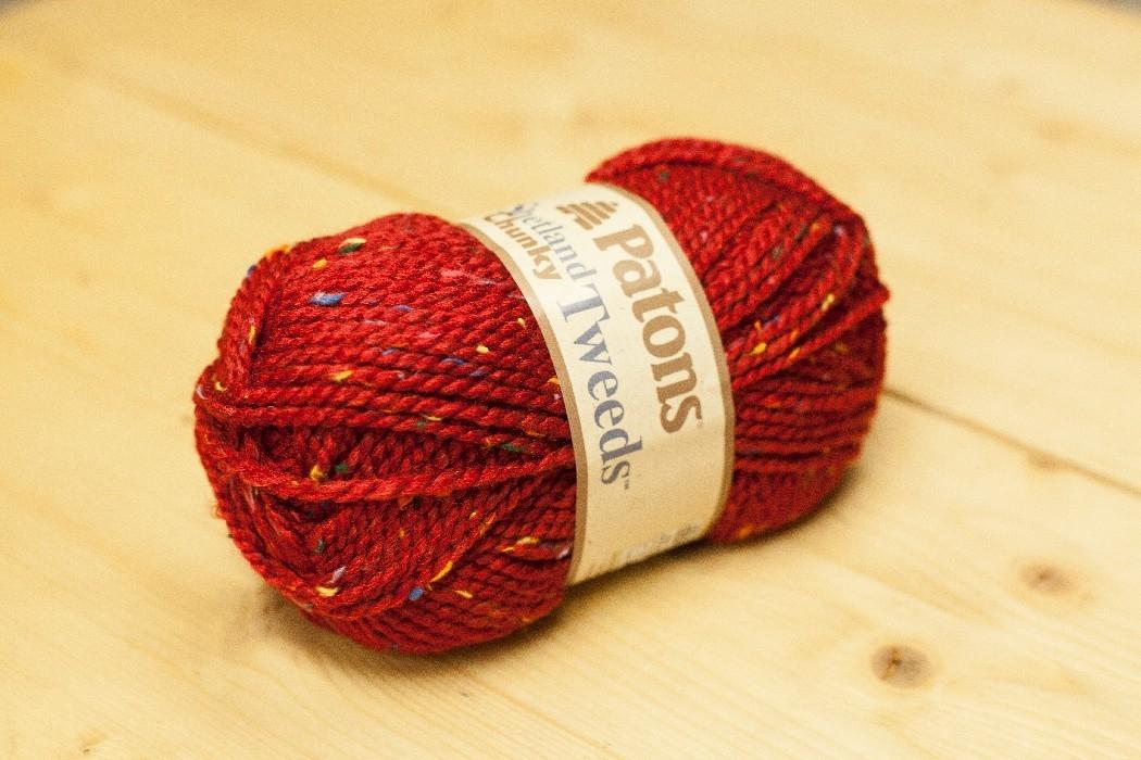 Shetland Chunky T. rouge foncé