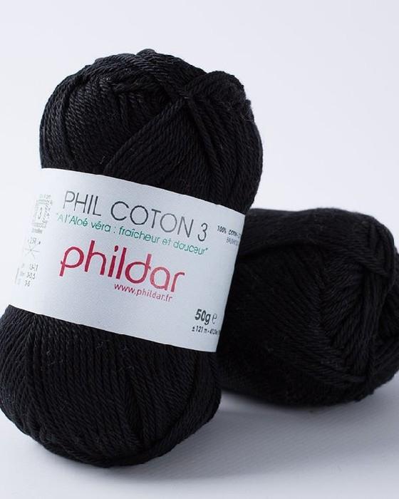 Phil coton 3 noir