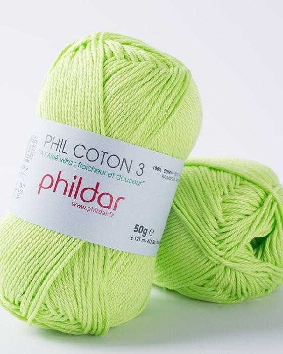 Phil coton 3 pistache