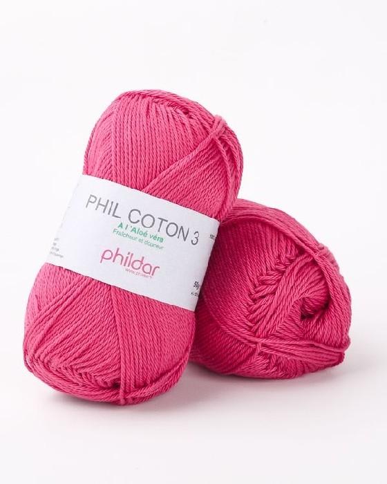 Phil coton 3 framboise