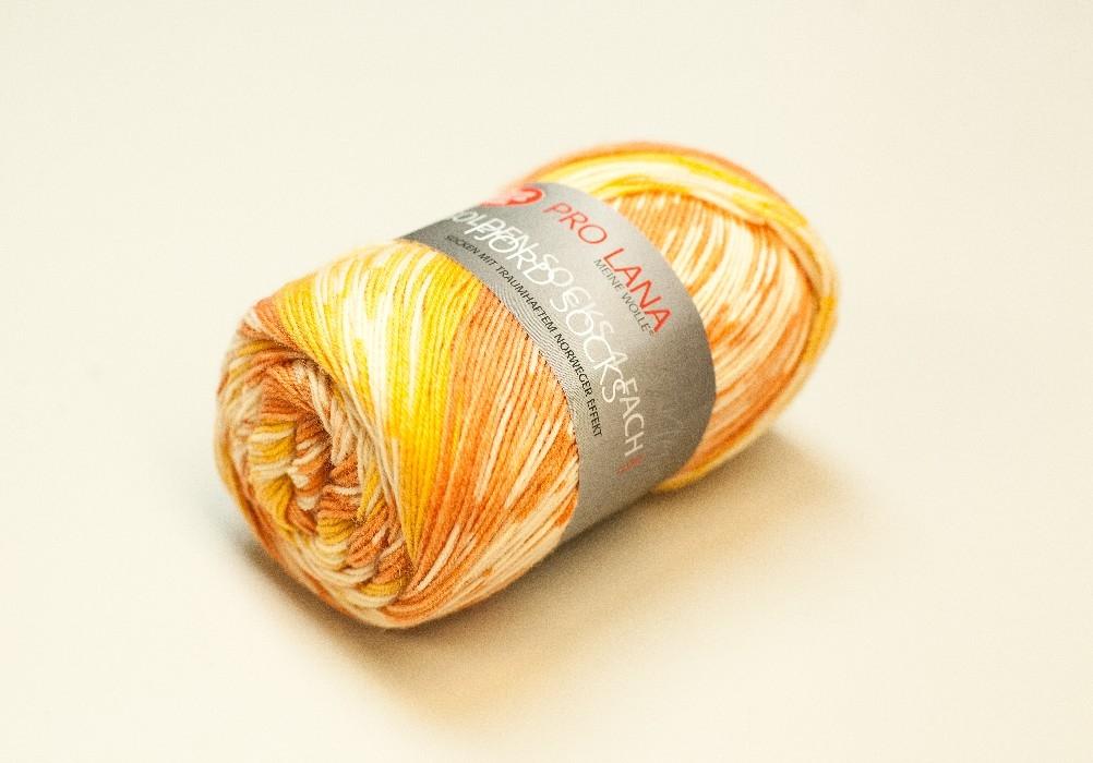 Fjord socks orange-jaune 182