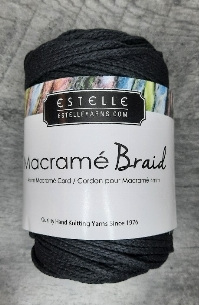 Macramé braid noir