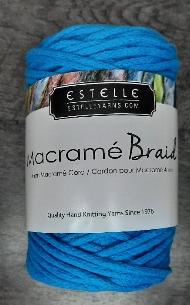 Macramé braid aqua