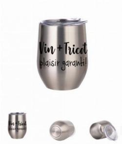 Verre à vin aluminium agent: Vin + Tricot! plaisir garanti